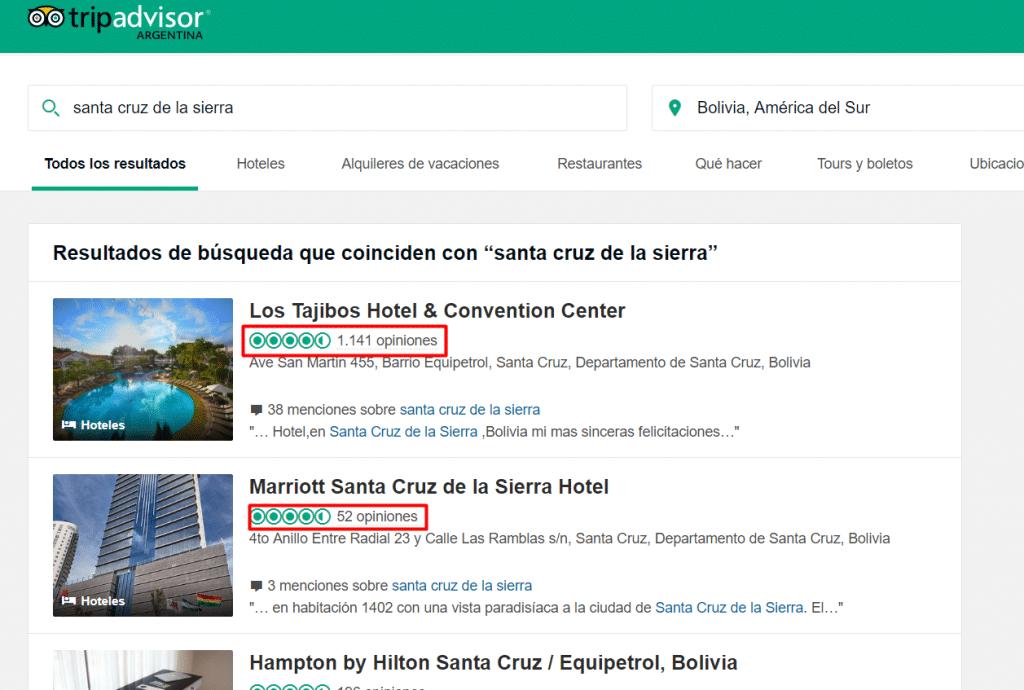 Busqueda de hotel en bolivia 2