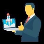Iconos eBook - Agencia de Marketing Hombre